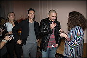James Franco talk and supper at Mansfield St. hosted by Maja Hoffmann. London. 23 November 2014