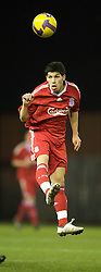 WIDNES, ENGLAND - Tuesday, February 17, 2009: Liverpool's Daniel Pacheco during the FA Premiership Reserves League (Northern Division) match against Everton at the Halton Stadium. (Mandatory credit: David Rawcliffe/Propaganda)