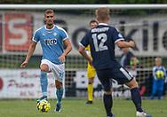 Anton Kühl Pedersen (FC Roskilde) under kampen i NordicBet Ligaen mellem FC Roskilde og Vendsyssel FF den 18. august 2019 i Roskilde Idrætspark (Foto: Claus Birch).