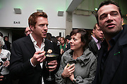 DAMIAN LEWIS, HELEN MCCRORY and  JAMES PUREFOY, Tom Cairns directs Almeida Fundraising Benefit sponsored by Coutts and Co. -A Chain Play by Samuel Adamson, Moira Buffini, David Hare, Charlotte Jones, Frank McGuinness and Roy Williams. Almeida theatre. London. 23 March 2007.  -DO NOT ARCHIVE-© Copyright Photograph by Dafydd Jones. 248 Clapham Rd. London SW9 0PZ. Tel 0207 820 0771. www.dafjones.com.