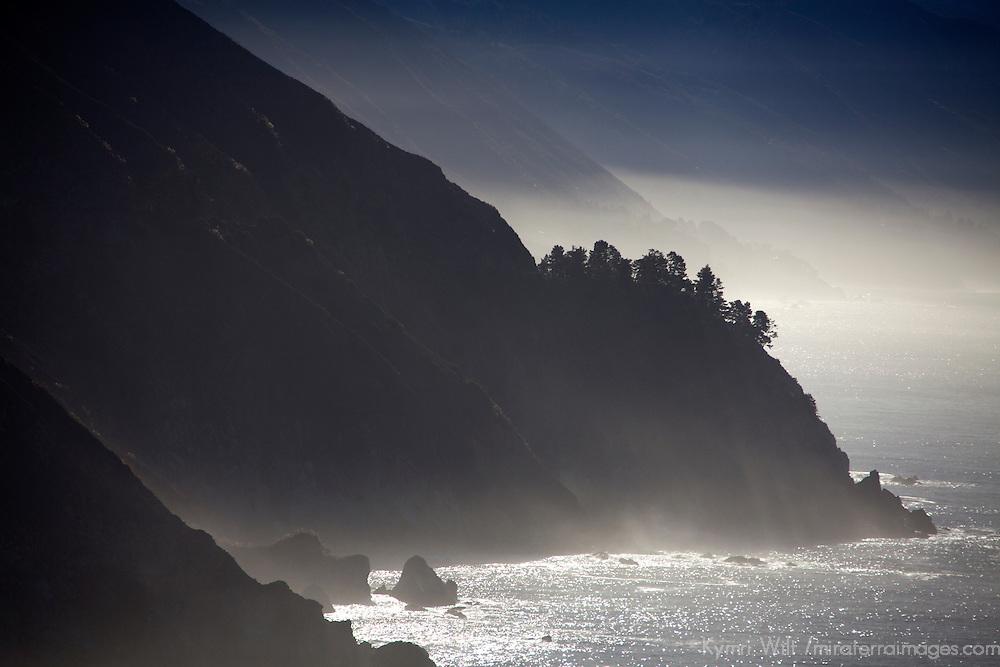 USA, California. Coastal Big Sur from Pacific Coast Highway 1.