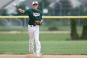 West Deptford's Chris Dillaquilla throws a runner out to end the 2nd inning during a elimination bracket game of the Eastern Regional Senior League tournament held in West Deptford on Monday, August 8.