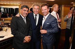An exclusive preview of the new Samsung OLED Curved TV has hosted by Nick & Holly Candy at their home at One Hyde Park, London on 29th August 2013.<br /> Picture shows:-James Caan, Steve Vorsari, Nick Candy.