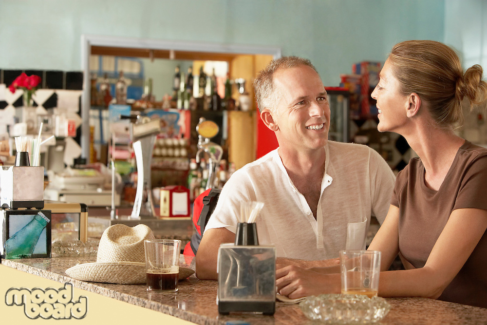 Couple sitting in bar