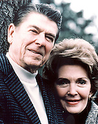 March 6, 2016 - NANCY REAGAN, Ronald Reagan's widow and First Lady from 1981-1989, has died at 94. The cause of death was congestive heart failure. Pictured: Sep 19, 1985. New Hampshire, U.S. - RONALD WILSON REAGAN with wife NANCY DAVIS REAGAN on a presidential tour addressing Future Farmers of America.  <br /> ©Michael Evans/Exclusivepix Media