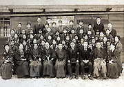 school group photo Cheba prefecture Japan 1920s