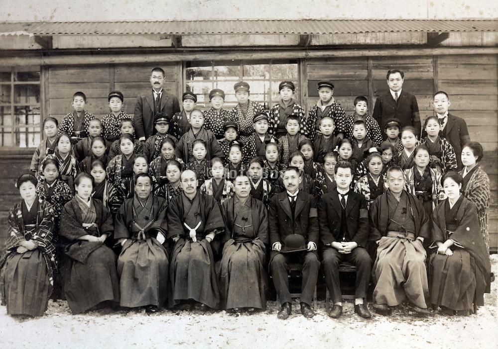 school group photo Cheba prefecture Japan 1920s