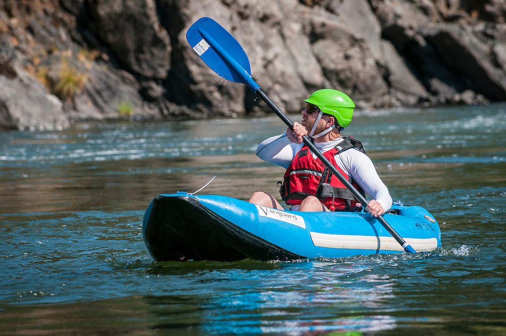 Parker Meek paddling the Rogue River, Oregon.