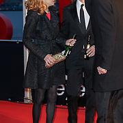 NLD/Amsterdam/20120404 - Opening filmmuseum Eye, Georgina Verbaan en partner Rob van der Wouw