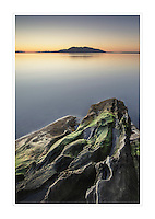 Alpenglow over Samish Bay, Larrabee State Park Washington