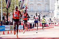 Mo Farah approaches the finish line<br /> The Virgin Money London Marathon 2014<br /> 13 April 2014<br /> Photo: Jed Leicester/Virgin Money London Marathon<br /> media@london-marathon.co.uk