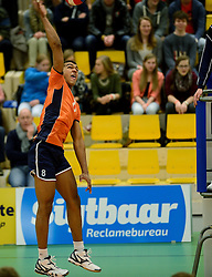 29-12-2014 NED: Eurosped Volleybal Experience Nederland - Belgie -19, Almelo<br /> Nederland verliest met 3-2 van Belgie / Miechiel Ahyi