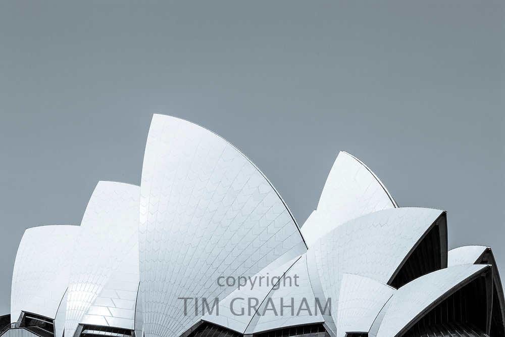 Sydney Opera House, close up of the sails of the roof, Sydney, New South Wales, Australia<br /> FINE ART PHOTOGRAPHY by Tim GrahamFINE ART PHOTOGRAPHY by Tim Graham