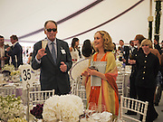 MRS. JOSE RAMA LOPES-PORTILLO; BARON THIERRY VON ZUYLEN, Cartier International Polo. Guards Polo Club. Windsor Great Park. 25 July 2010. -DO NOT ARCHIVE-© Copyright Photograph by Dafydd Jones. 248 Clapham Rd. London SW9 0PZ. Tel 0207 820 0771. www.dafjones.com.
