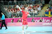 DESCRIZIONE : Handball Jeux Olympiques Londres Quart de Finale<br /> GIOCATORE : Mikkel Hansen<br /> SQUADRA : Danemark Homme<br /> EVENTO : Handball Jeux Olympiques<br /> GARA : Danemark Suede<br /> DATA : 08 08 2012<br /> CATEGORIA : handball Jeux Olympiques<br /> SPORT : HANDBALL<br /> AUTORE : JF Molliere <br /> Galleria : France JEUX OLYMPIQUES 2012 Action<br /> Fotonotizia : Handball Homme Jeux Olympiques Londres Quart de Finale Basketball Arena<br /> Predefinita :