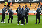 Derby players inspect the pitch during the EFL Sky Bet Championship match between Wolverhampton Wanderers and Derby County at Molineux, Wolverhampton, England on 5 November 2016. Photo by Alan Franklin.