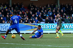 Liam Sercombe of Bristol Rovers shoots at goal - Mandatory by-line: Robbie Stephenson/JMP - 17/02/2018 - FOOTBALL - Cherry Red Records Stadium - Kingston upon Thames, England - AFC Wimbledon v Bristol Rovers - Sky Bet League One