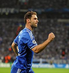 Chelsea's Branislav Ivanovic celebrates - Photo mandatory by-line: Joe Meredith/JMP - Tel: Mobile: 07966 386802 22/10/2013 - SPORT - FOOTBALL - Veltins-Arena - Gelsenkirchen - FC Schalke 04 v Chelsea - CHAMPIONS LEAGUE - GROUP E