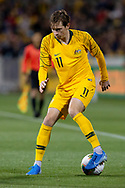 CANBERRA, AUSTRALIA - OCTOBER 10: Australian midfielder Craig Goodwin (11) during the FIFA World Cup Qualifier soccer match between Australia and Nepal on October 10, 2019 at GIO Stadium in Canberra, Australia. (Photo by Speed Media/Icon Sportswire)