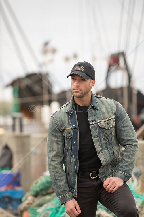 man on a boating dock in Montauk