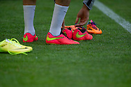 Nike new soccer shoes Magista while official training one day before international friendly match between Poland and Lithuania at PGE Arena in Gdansk, Poland.<br /> <br /> Poland, Gdansk, June 05, 2014<br /> <br /> Picture also available in RAW (NEF) or TIFF format on special request.<br /> <br /> For editorial use only. Any commercial or promotional use requires permission.<br /> <br /> Mandatory credit:<br /> Photo by © Adam Nurkiewicz / Mediasport