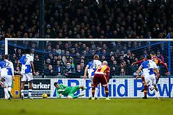Charlie Wyke of Bradford City scores a penalty past Adam Smith of Bristol Rovers - Rogan/JMP - 20/01/2018 - FOOTBALL - Memorial Stadium - Bristol, England - Bristol Rovers v Bradford City - EFL Sky Bet League One.