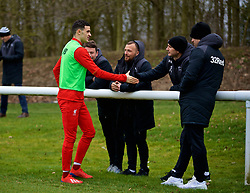 DERBY, ENGLAND - Friday, March 8, 2019: Liverpool's substitute Isaac Christie-Davies shakes hands with Derby County's manager Frank Lampard during the FA Premier League 2 Division 1 match between Derby County FC Under-23's and Liverpool FC Under-23's at the Derby County FC Training Centre. (Pic by David Rawcliffe/Propaganda)
