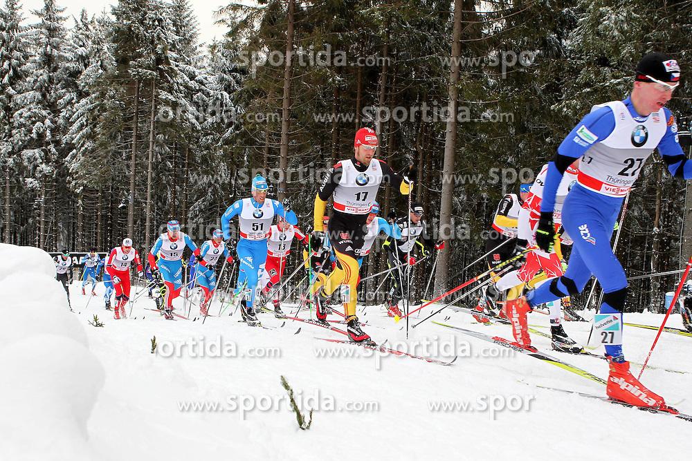 31.12.2011, DKB-Ski-ARENA, Oberhof, GER, Viessmann Tour de Ski 2011, FIS Langlauf Weltcup, Verfolgung Herren, im Bild u.a. Fabio Pasini (ITA), Axel Teichmann (GER) und Lukas Bauer (CZE) // during men's pursuitof Viessmann Tour de Ski 2011 FIS World Cup Cross Country at DKB-SKI-Arena Oberhof, Germany on 2011/12/31. EXPA Pictures © 2011, PhotoCredit: EXPA/ nph/ Hessland..***** ATTENTION - OUT OF GER, CRO *****