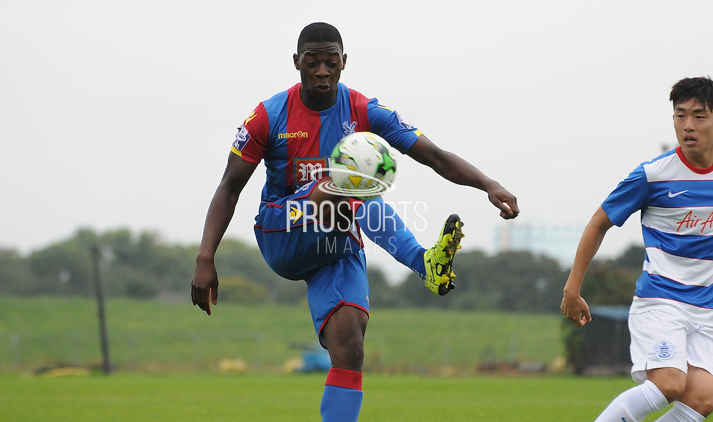 Sullay KaiKai controlling the loose ball during the U21 Professional Development League match between U21 QPR and U21 Crystal Palace at the Loftus Road Stadium, London, England on 31 August 2015. Photo by Michael Hulf.