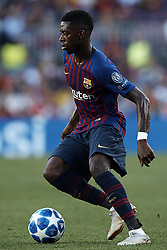September 18, 2018 - Barcelona, Barcelona, Spain - Ousmane Dembele of FC Barcelona with the ball during the UEFA Champions League group B match between FC Barcelona and PSV Eindhoven at Camp Nou on September 18, 2018 in Barcelona, Spain  (Credit Image: © David Aliaga/NurPhoto/ZUMA Press)