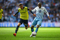 Joe Rothwell of Oxford United tackles Kyel Reid of Coventry City - Photo mandatory by-line: Jason Brown/JMP -  02/04//2017 - SPORT - Football - London - Wembley Stadium - Coventry City v Oxford United - Checkatrade Trophy Final