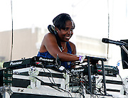 DJ Donna Edwards performs at the Liberty State Park Music Festival in Newark, New Jersey on July 25, 2015.