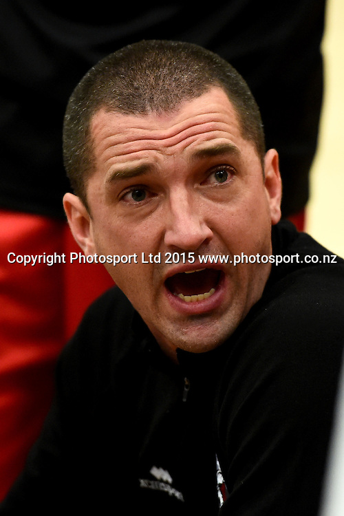 Canterbury coach Mark Dickel during their NBL Basketball game between the Nelson Giants v Canterbury Rams. Saxton Stadium, Nelson, New Zealand. Friday 24 April 2015. Copyright Photo: Chris Symes / www.photosport.co.nz