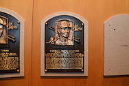 COOPERSTOWN, NY - JULY 26: Baseball Hall of Famer Randy Johnson's plaque is hung in the National Baseball Hall of Fame and Museum on July 26, 2015 in Cooperstown, NY. (Photo by Jennifer Stewart/Arizona Diamondbacks)