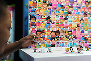 The My Mini Mixie Q's are unveiled at the New York Toy Fair, Friday, Feb. 12, 2016.  The line includes a wide variety of unique MixieQ characters, ranging from a DJ to a Dragon, and themed by their different personalities. (Photo by Diane Bondareff/AP Images for Mattel)