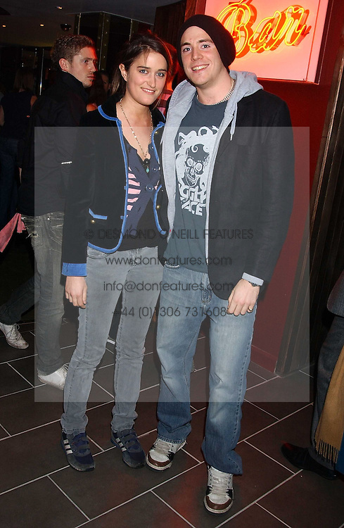 JASPER KAVANAGH and VIOLET VON WESTENHOLTZ at the opening party for a new bowling alley All Star Lanes, at Victoria House, Bloomsbury Place, London on 19th January 2006.<br /><br />NON EXCLUSIVE - WORLD RIGHTS
