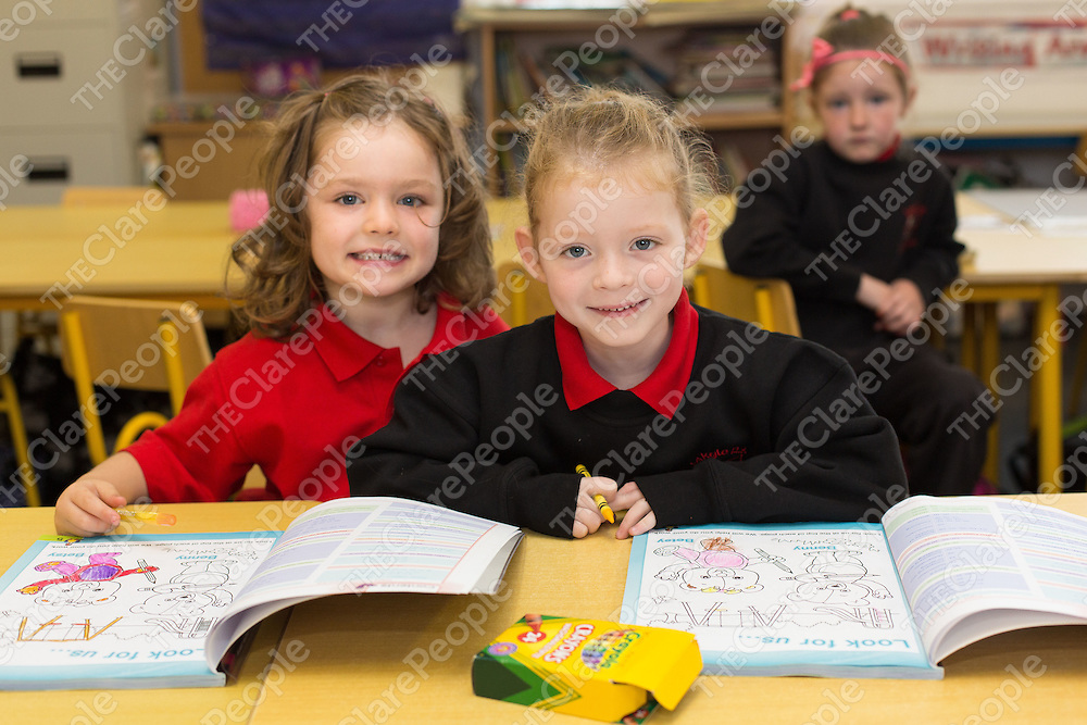 Best Friends Ciara Kelly and Siun Fahy enjoying school at Lakyle NS, Whitegate on Thursday morning