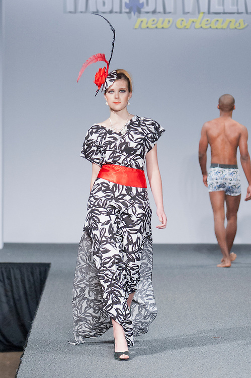Designer Gerald Keno of New Orleans showed his collection for the Top Design Competition at New Orleans Fashion Week, Louisiana.
