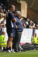 Picture by David Horn/Focus Images Ltd +44 7545 970036.18/08/2012.Paul Sturrock ® of Southend United and Paul Cook (L) of Accrington Stanley during the npower League 2 match at Roots Hall, Southend.