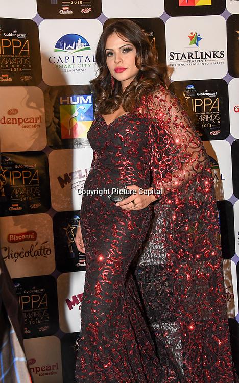 Sadaf Khan (Fawad Khan's Wife) arrives at the Annual International Pakistan Prestige Awards (IPPA) at Indigo at The O2 on 9th September 2018, London, UK.