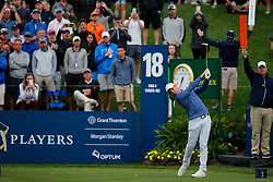 March 16, 2019 - Ponte Vedra Beach, FL, U.S. - PONTE VEDRA BEACH, FL - MARCH 16: Rory McIlroy of Northern Ireland plays a shot on the 18th hole during the third round of THE PLAYERS Championship on March 16, 2019 on the Stadium Course at TPC Sawgrass in Ponte Vedra Beach, Fl. (Photo by David Rosenblum/Icon Sportswire) (Credit Image: © David Rosenblum/Icon SMI via ZUMA Press)
