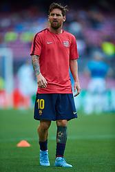 September 18, 2018 - Barcelona, Barcelona, Spain - Leo Messi of FC Barcelona during the UEFA Champions League group B match between FC Barcelona and PSV Eindhoven at Camp Nou on September 18, 2018 in Barcelona, Spain  (Credit Image: © Sergio Lopez/NurPhoto/ZUMA Press)