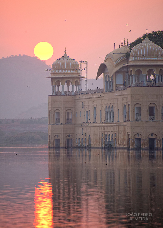 View of Jal-Mahal at Sunrise