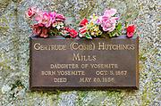 Grave in the historic Yosemite Valley Cemetery, Yosemite National Park, California USA