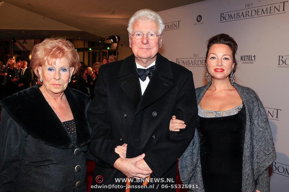NLD/Rotterdam/20121218 - Premiere het Bombardement , Gerard Cox en partner Martine Keesmaat en ?..