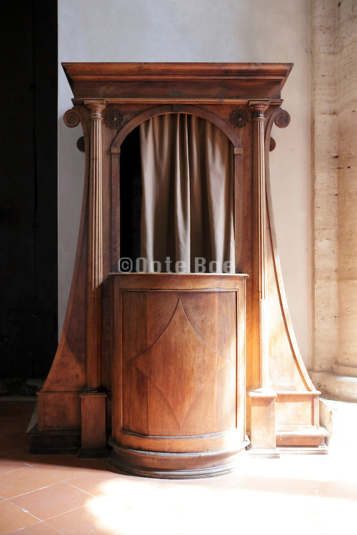 Confessional in a church