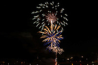 Weirs Beach Fireworks in celebration of the 4th of July.  Karen Bobotas Photographer