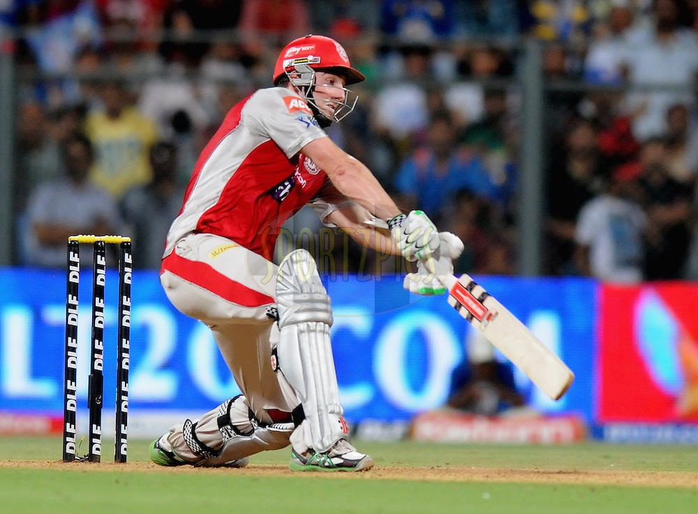 Shaun Marsh of Kings XI Punjab bats  during match 28 of the Indian Premier League ( IPL) 2012  between The Mumbai Indians and the Kings X1 Punjab held at the Wankhede Stadium in Mumbai on the 22nd April 2012..Photo by Pal Pillai/IPL/SPORTZPICS..