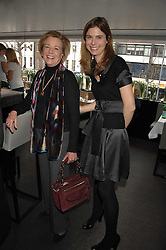 Left to right, POLLY WOOD Kate Reardon's mother and TOR GOODER at a lunch to celebrate the launch of the Top Tips for Girls website (toptips.com) founded by Kate Reardon held at Armani, Brompton Road, London on 5th March 2007.<br />