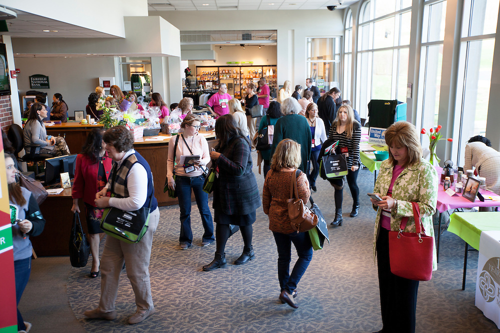 Conference participants visit booths at the 10th Annual Celebrate Women Conference at Ohio University Lancaster Campus on Friday, March 18, 2016. Photo by Kaitlin Owens